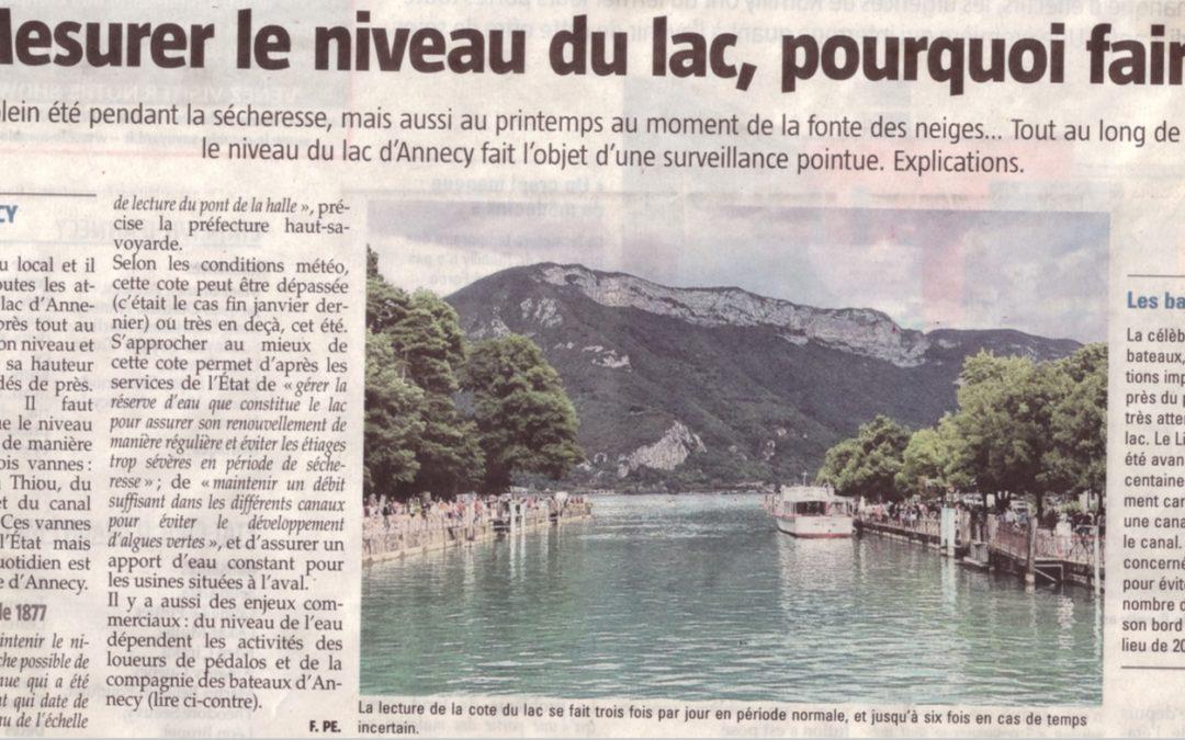 Mesurer le niveau du lac ?